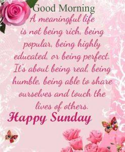 Good Morning Happy Sunday HD Photo Download