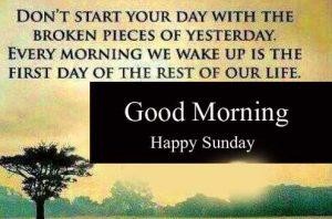 Beautiful Good Morning Happy Sunday HD Wallpaper New