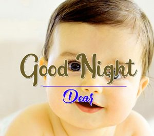 Cute Baby Good Night Wishes Wallpaper Download