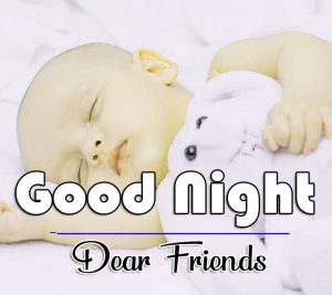 Free Good Night Wishes Wallpaper With Cute Baby