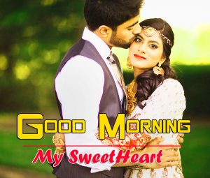 Free Love Couple Good Morning Wishes Wallpaper