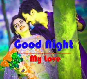 Good Night Wishes Images With Love Couple