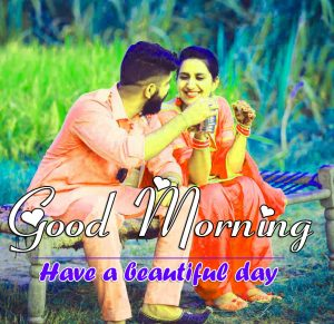 Love Couple Good Morning Wishes Photo With Punjai Couple