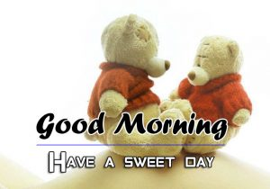 Love Couple Good Morning Wishes Wallpaper Download With Teady