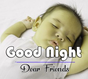 With Cute baby Free Good Night Wishes Wallpaper Download