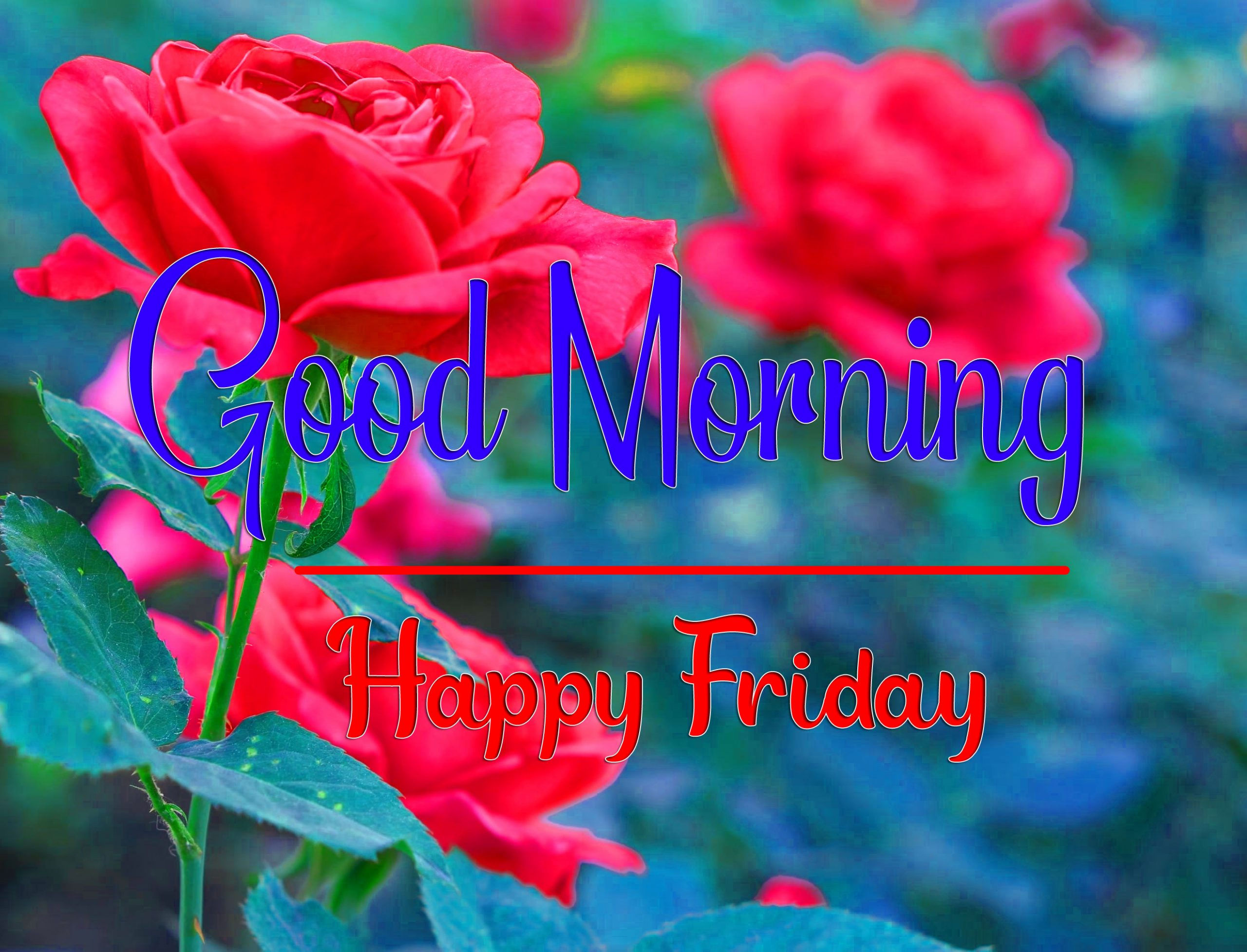 friday Good morning Wallpaper With Flower