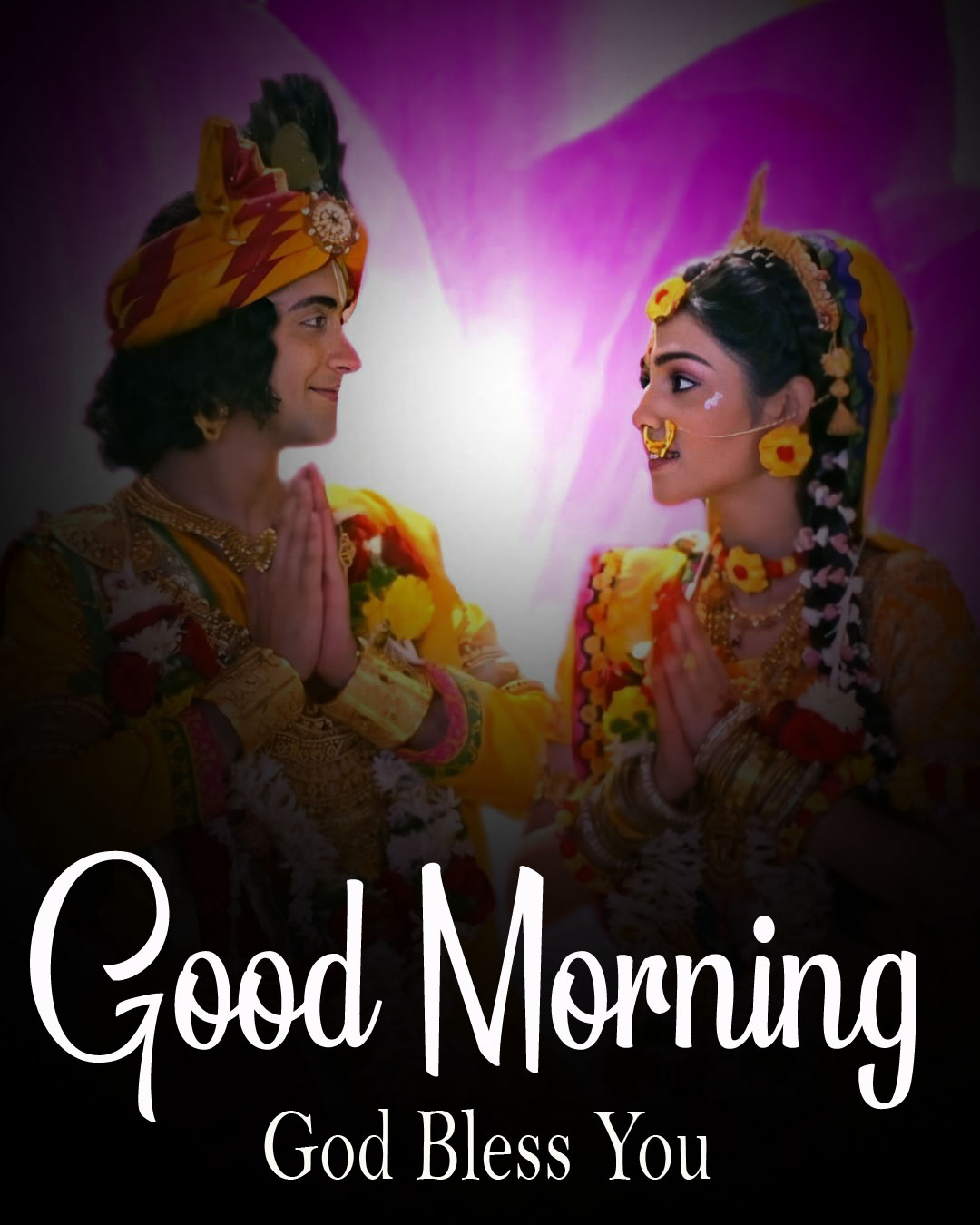 1080p Radha Krishna Good Morning Images photo