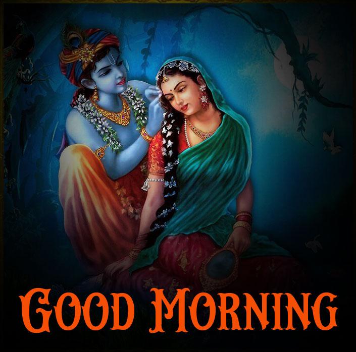 1080p Radha Krishna Good Morning Images pics