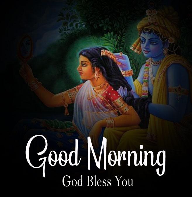2021 Beautiful Radha Krishna Good Morning Images photo 2