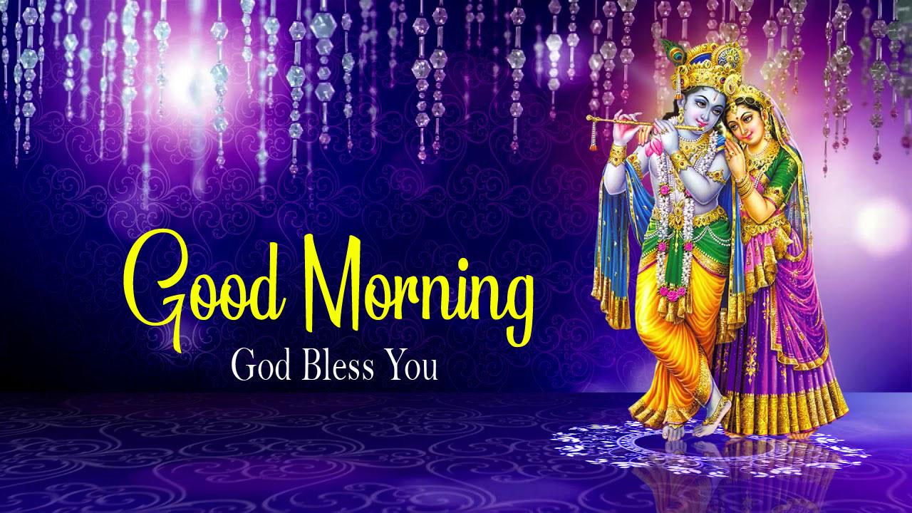 2021 Beautiful Radha Krishna Good Morning Images photo
