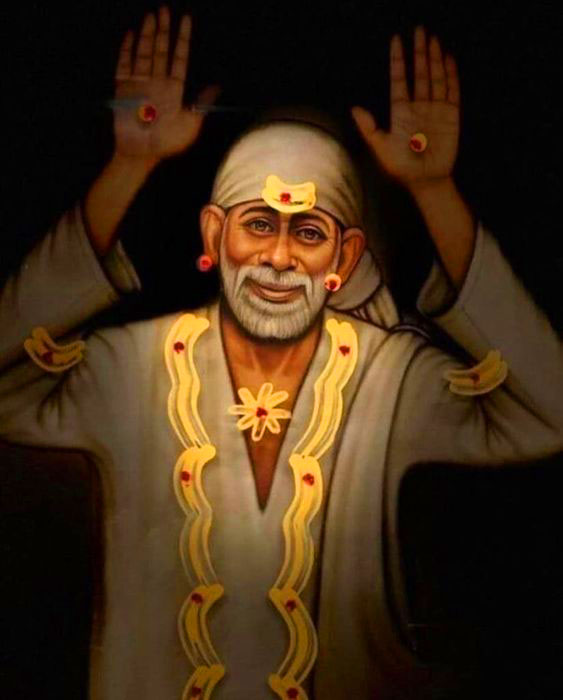 2021 Beautiful Sai Baba Blessing Images for fb
