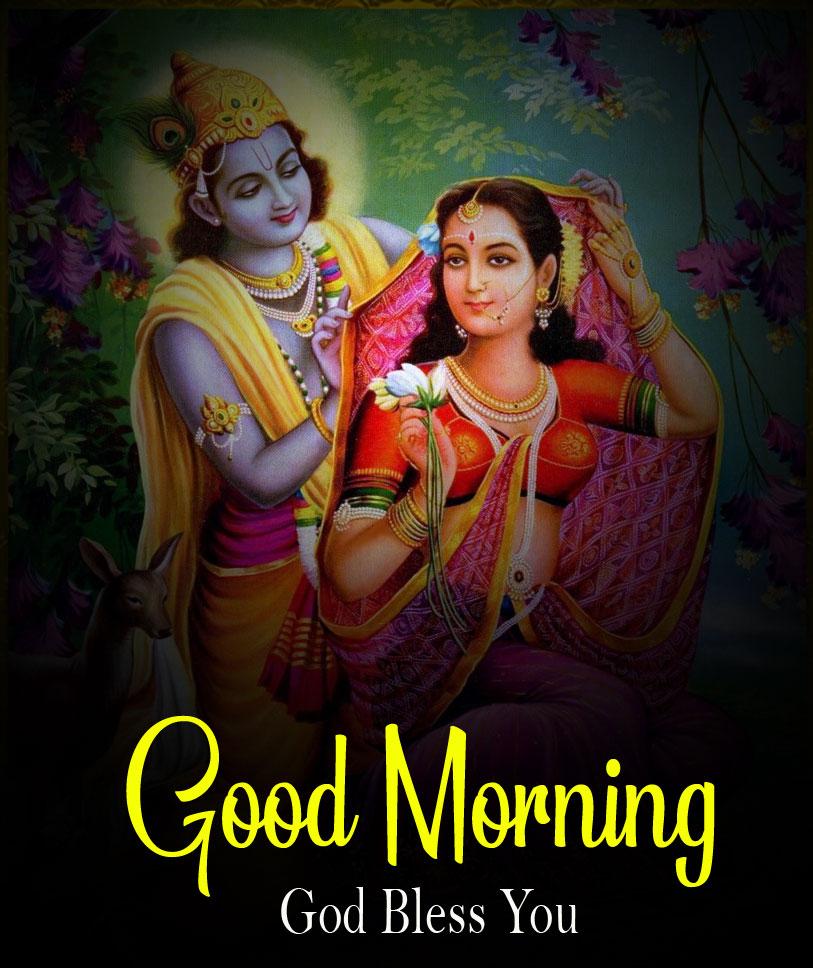 2021 Nice Radha Krishna Good Morning Images