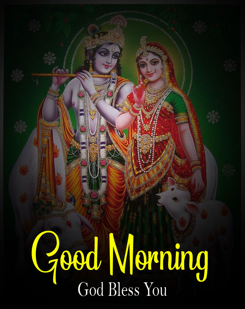 2021 free hd Latest Radha Krishna Good Morning Images