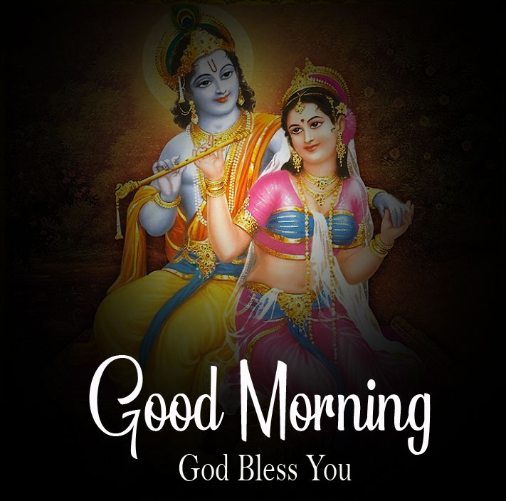 Beautiful Radha Krishna Good Morning Images photo 2021