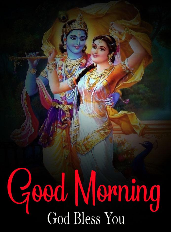 Beautiful Radha Krishna Good Morning Images photo for download