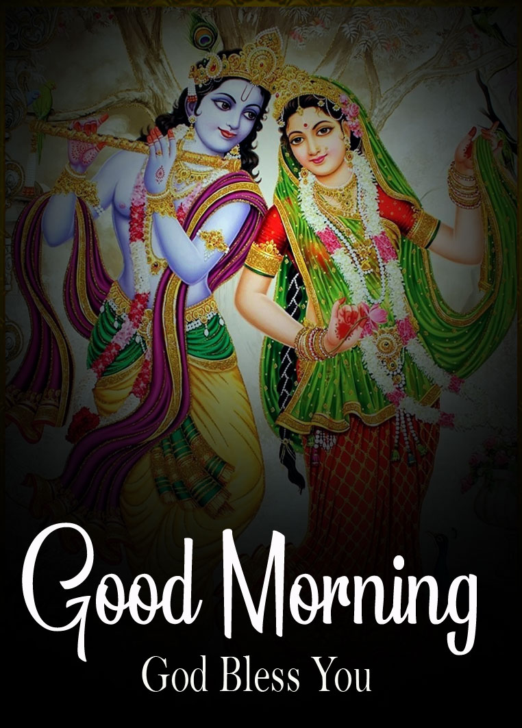 Beautiful Radha Krishna Good Morning Images photo for full hd
