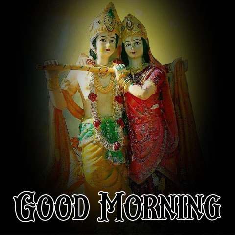 Beautiful Radha Krishna Good Morning Images photo for whatsapp