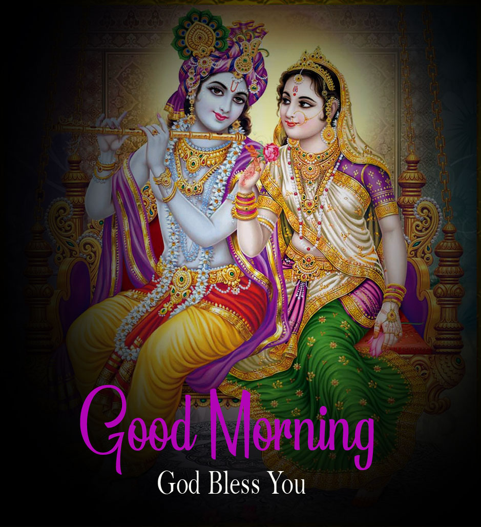 Beautiful Radha Krishna Good Morning Images photo pics hd