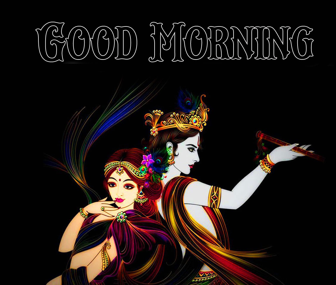 Beautiful Radha Krishna Good Morning Images photo pics
