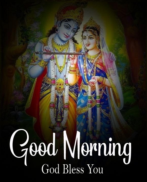 Beautiful Radha Krishna Good Morning Images pics 2021