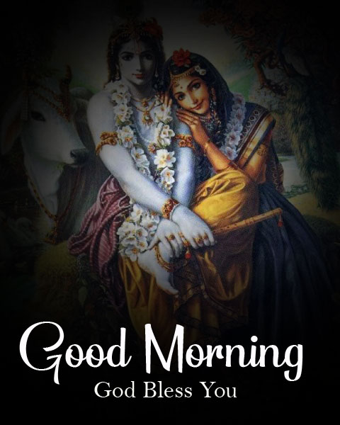 Beautiful Radha Krishna Good Morning Images pics hd download