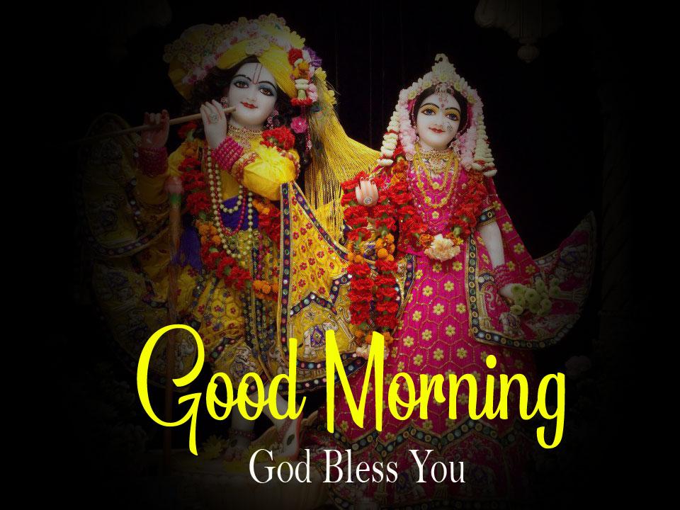 Beautiful Radha Krishna Good Morning Images pics photo