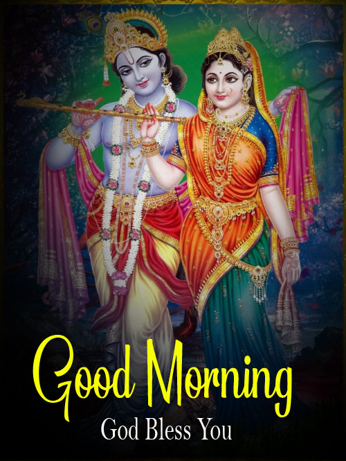 Beautiful Radha Krishna Good Morning Images pictures free download 2021