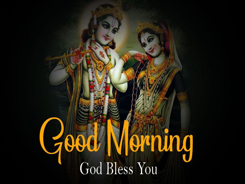 Beautiful Radha Krishna Good Morning Images pictures full hd