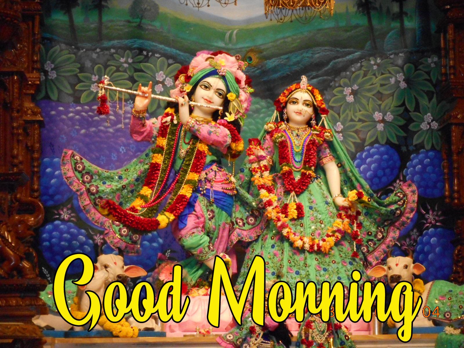 Beautiful Radha Krishna Good Morning Images
