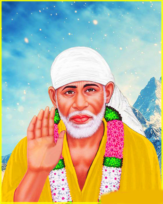 Beautiful Sai Baba Blessing Images for mobile