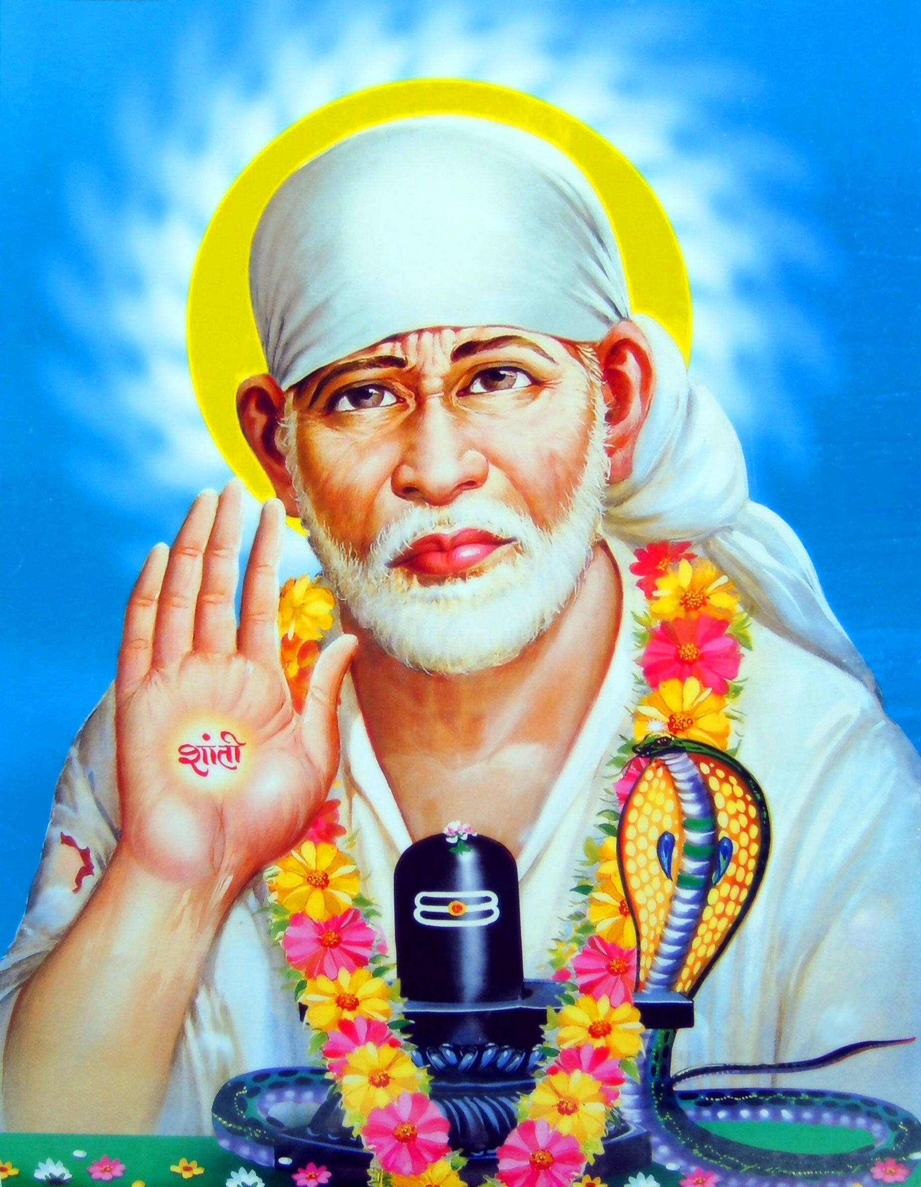 Beautiful Sai Baba Blessing Images photo for status
