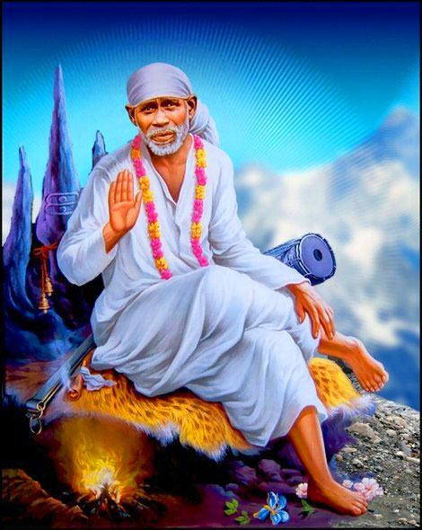Beautiful Sai Baba Blessing Images pics for profile