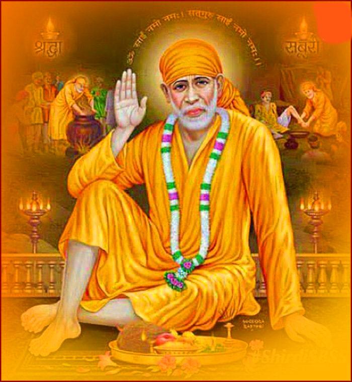 Beautiful Sai Baba Blessing Images pics