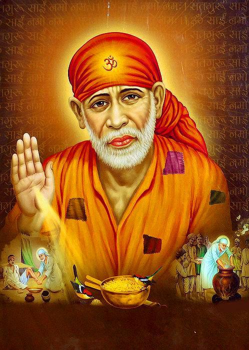 Beautiful Sai Baba Blessing Images wallpaper download