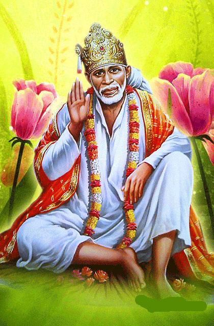 Beautiful Sai Baba Blessing Images