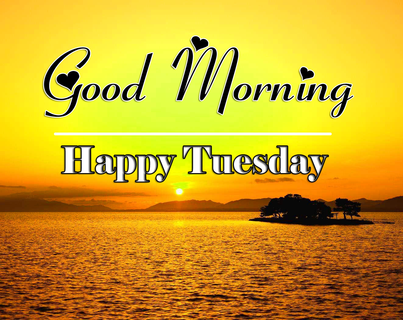 Beautiful Tuesday Good morning Wallapper With Sunrise 1