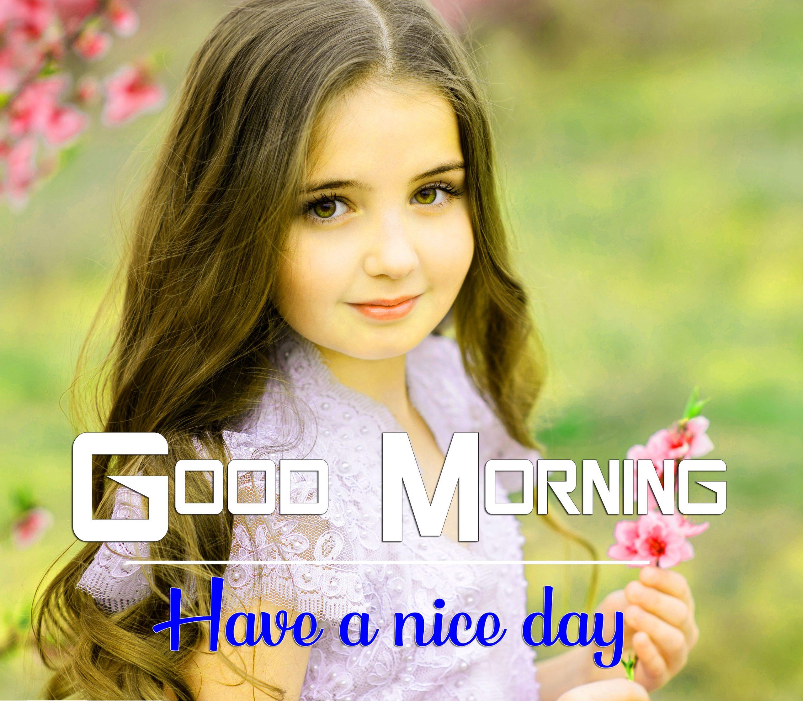Cute Girls good morning Whatsapp dp Images