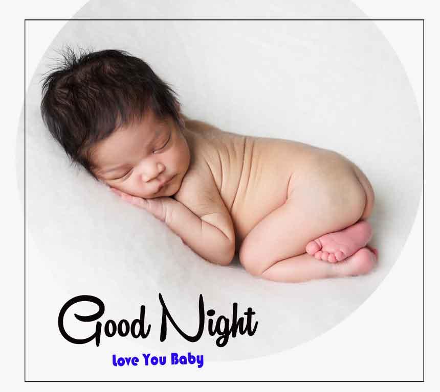 Free good night cute baby Wallpaper 2