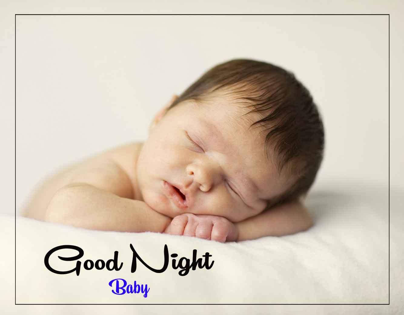 Free good night cute baby Wallpaper Free