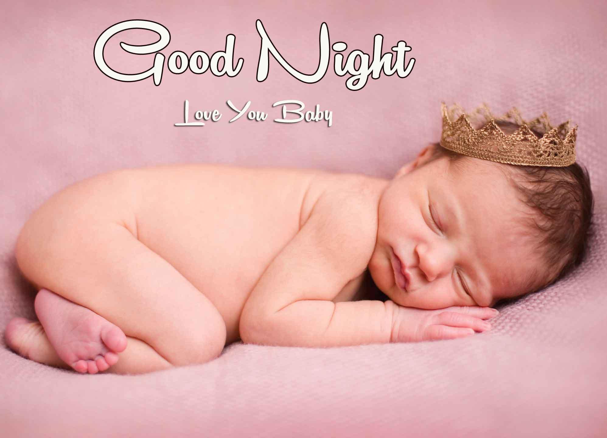 Free good night cute baby Wallpaper Pics Download