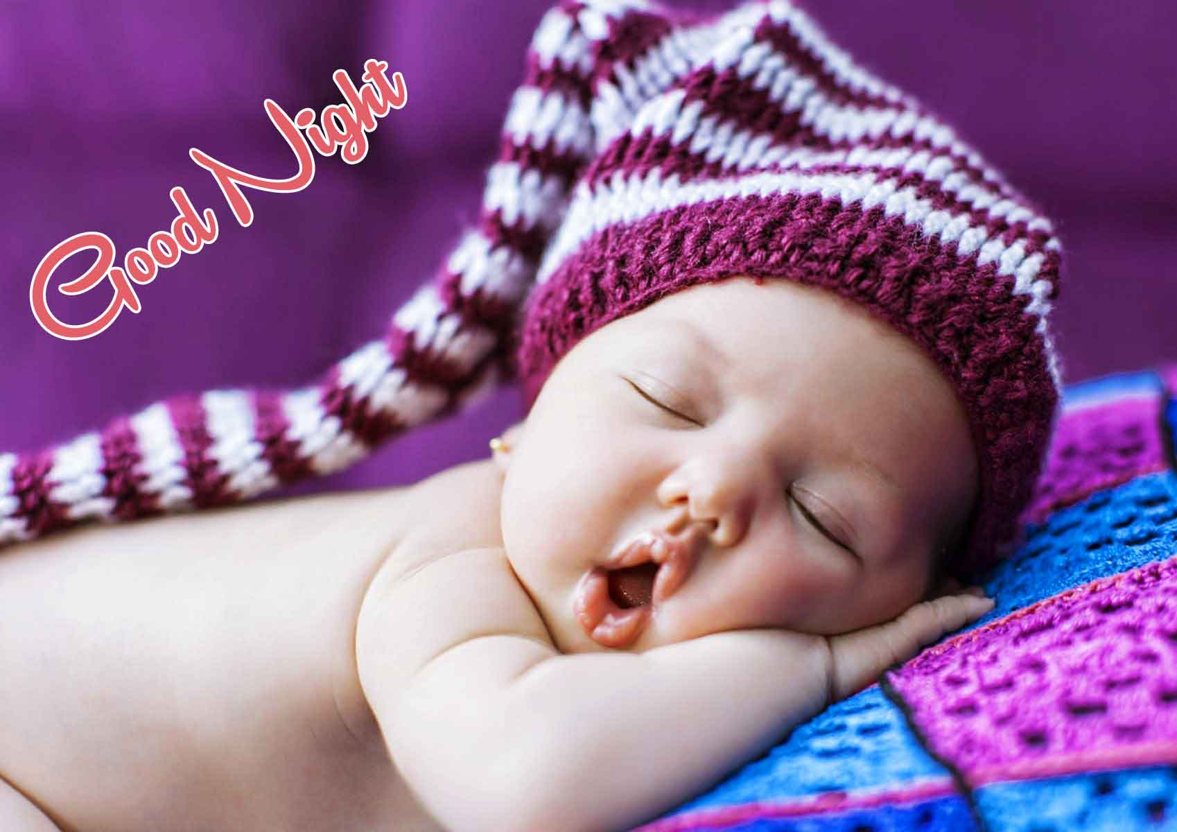 Free good night cute baby Wallpaper