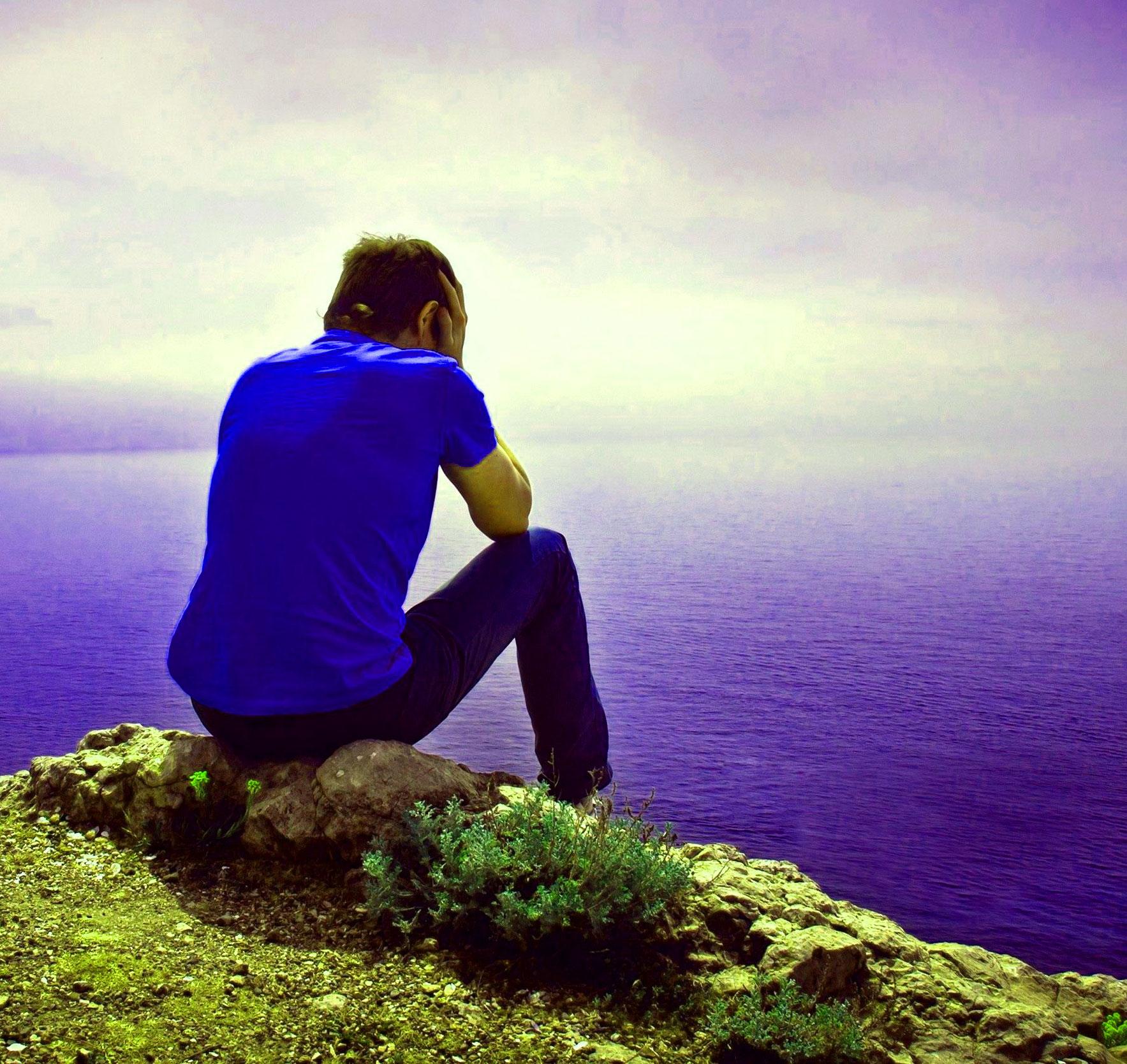 Fresh Sad Alone boy whatsapp dp Images