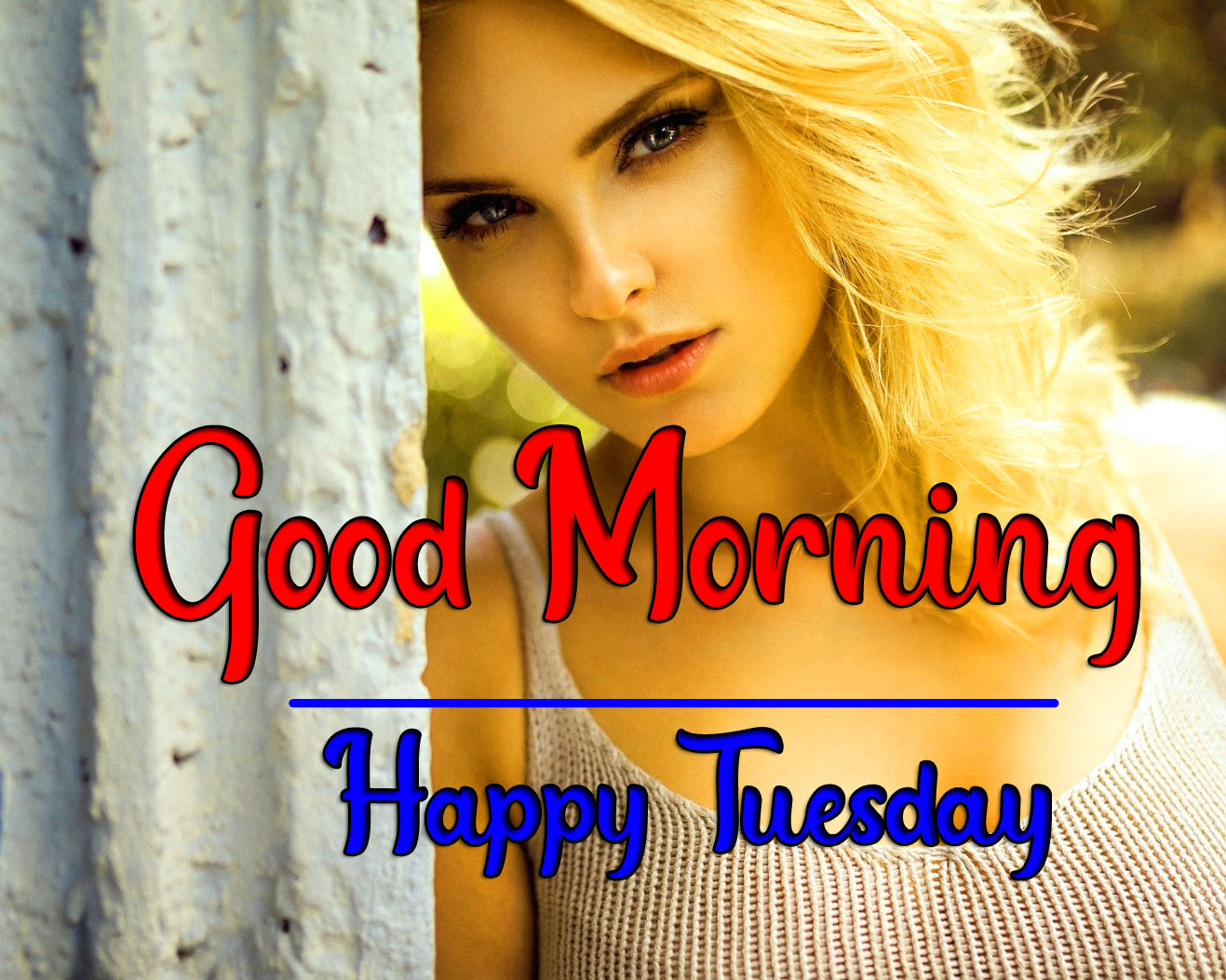 Girls Beautiful Tuesday Good morning Images