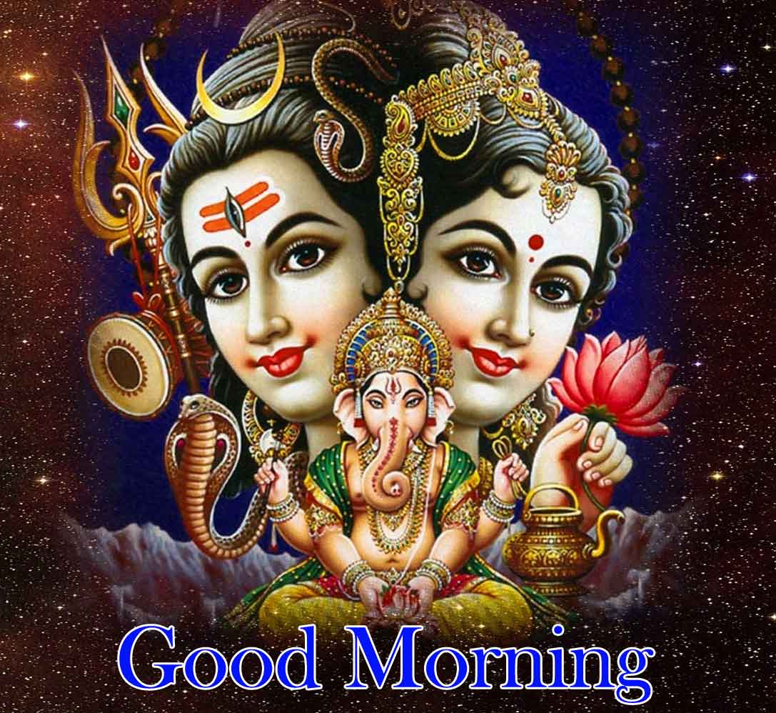 Good Morning Pics Images With Shiva Parvati