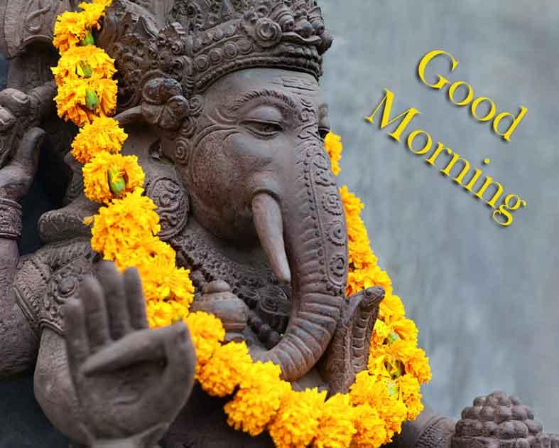 Good Morning Pics Photo With Ganesha