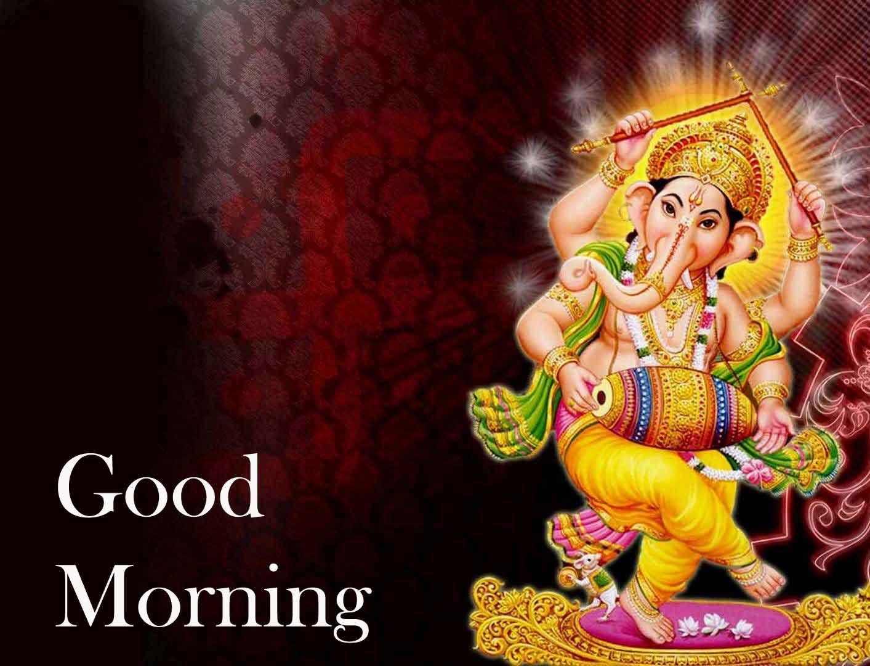 Good Morning Pics Wallpaper With Lord Ganesha