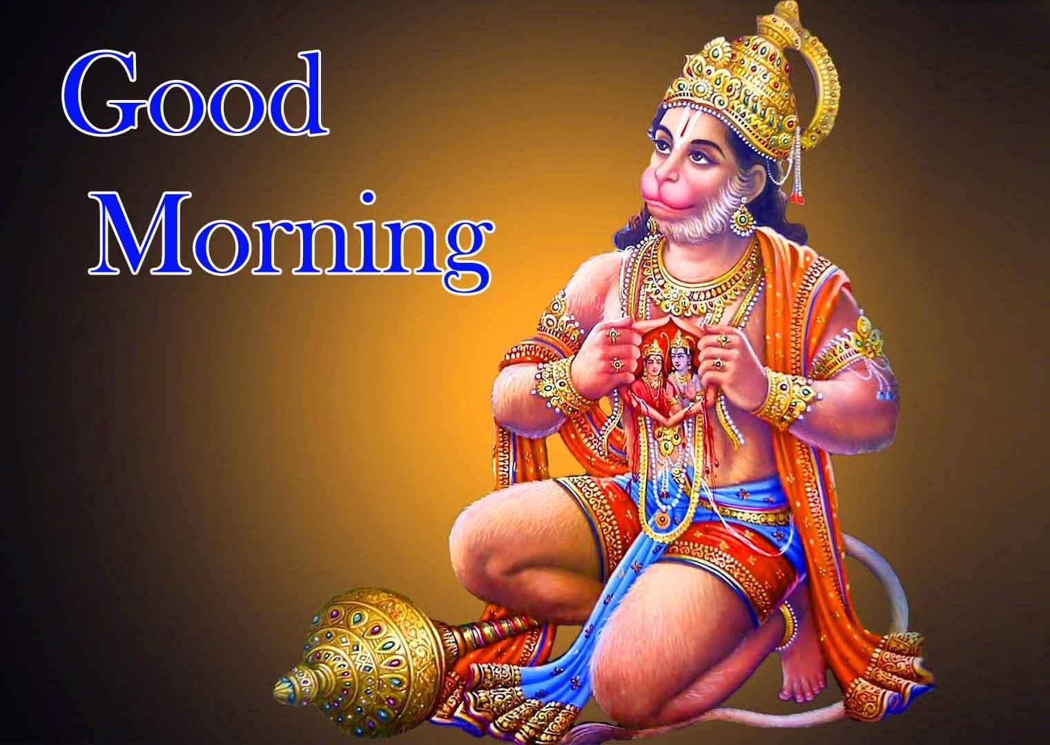 Good Morning Wallpaper Images With Hanuman Ji