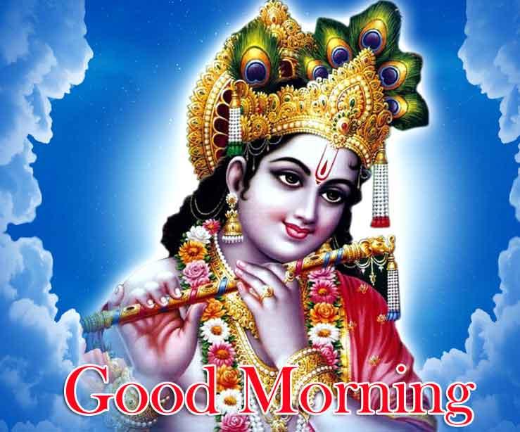 Good Morning Wallpaper With Krishna