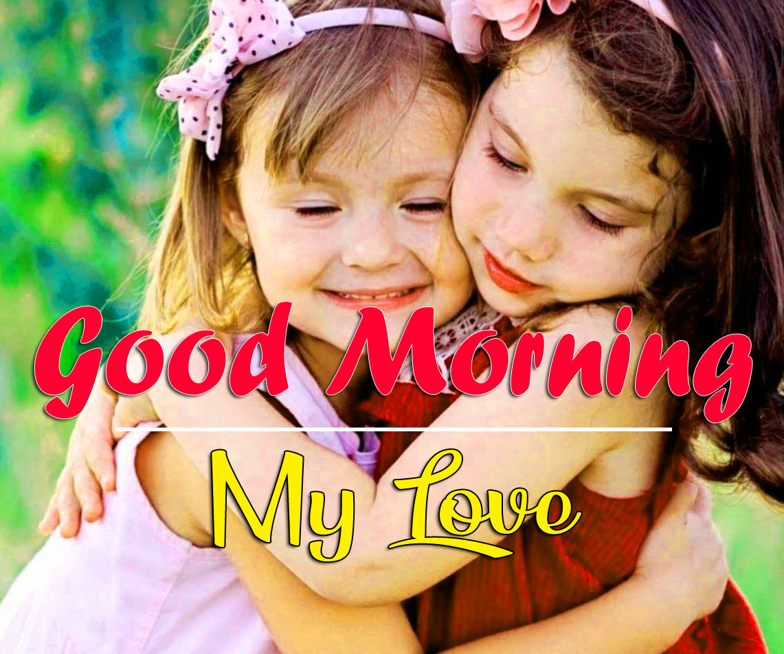 Good Morning Wishes Images With Cute Sister
