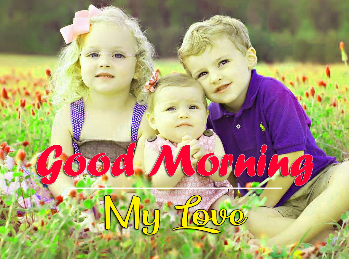 Good Morning Wishes Photo With Family